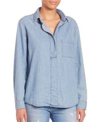 Rag & Bone Jean Leeds Denim Button Front Shirt