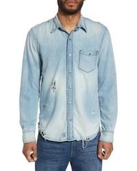 Jeans weston slim fit destructed denim shirt medium 3772698
