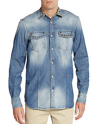Just Cavalli Studded Denim Sportshirt