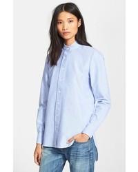 Frame Denim Le Tunic Oxford Shirt