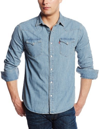 levis light blue denim shirt