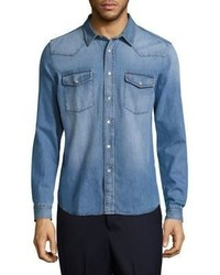 Ami Light Wash Denim Shirt