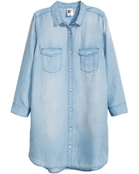 H&M Long Denim Shirt