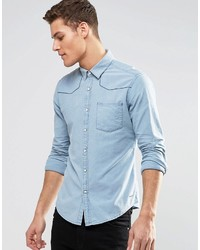 Esprit Long Sleeve Denim Shirt Inslim Fit