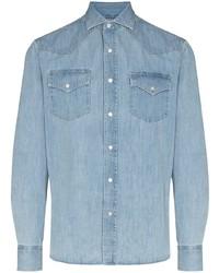 Brunello Cucinelli Long Sleeve Denim Shirt