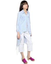 MARQUES ALMEIDA Raw Cut Cotton Japanese Denim Shirt
