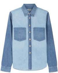 Mother Mixed Wash Denim Shirt
