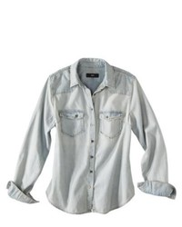 Mossimo Black Light Wash Denim Shirt M