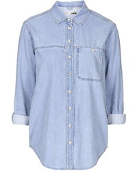Moto Oversized Denim Shirt