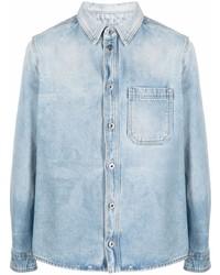 Off-White Negative Mark Bleach Effect Denim Shirt