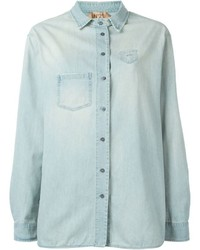 No.21 No21 Mini Pocket Denim Shirt