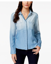 Olive Sloane Olive Sloane Ombre Split Back Denim Shirt Only At Macys