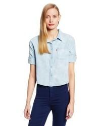 Levi's One Pocket Crop Denim Shirt