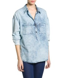 Mango Outlet Bleached Denim Shirt