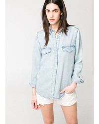 Mango Outlet Vintage Denim Shirt