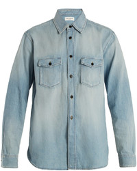 Saint Laurent Oversized Denim Shirt