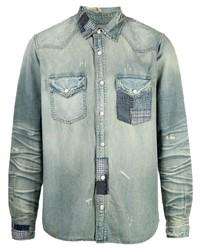 Amiri Patchwork Denim Shirt