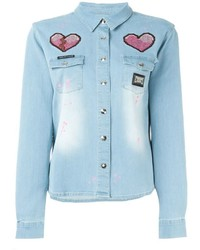 Philipp Plein No Way Denim Shirt