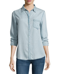 DL1961 Premium Denim Mercer Spring Chambray Shirt Bleach