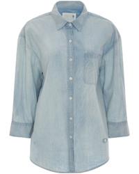 R 13 R13 Lightly Faded Denim Shirt