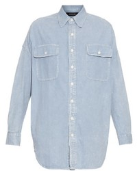 R 13 R13 Step Hem Denim Shirt