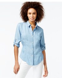 Rachel Rachel Roy Cutout Denim Shirt