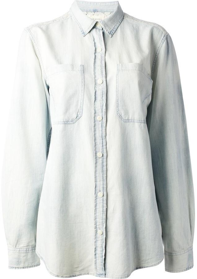 Denim & Supply Ralph Lauren Ralph Lauren Denim Supply Lace Panel Denim Shirt