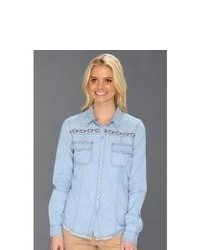 Roxy After Sundown Ls Denim Shirt Long Sleeve Button Up