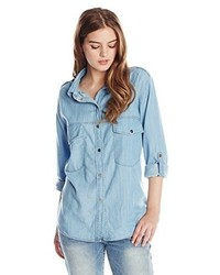 Sanctuary Clothing Boyfriend Denim Tencel Shirt