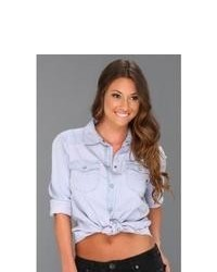 Sanctuary Southern Rock Denim Shirt Long Sleeve Button Up