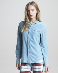 See by Chloe Button Up Denim Blouse