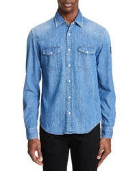 Belstaff Somerford Stonewash Denim Western Shirt