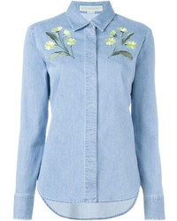 Stella mccartney embroidered denim shirt medium 686851