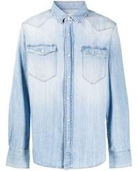 Eleventy Stonewashed Buttoned Shirt