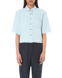 The Kooples Sport Cropped Denim Shirt
