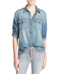The perfect button front denim shirt medium 686748