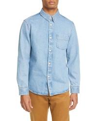 A.P.C. Victor Standard Fit Button Up Denim Shirt