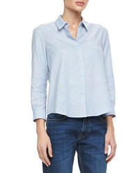 Victoria Beckham Denim Basic Button Down Shirt