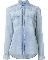 7 For All Mankind Washed Denim Shirt