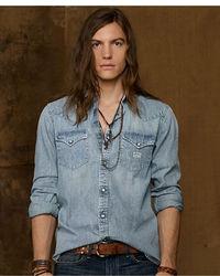 Denim & Supply Ralph Lauren Western Bleached Out Shirt