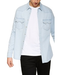Topman Western Classic Fit Denim Shirt