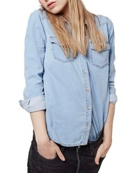 Topshop Western Denim Shirt