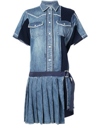 Pleated denim shirt dress medium 4471470