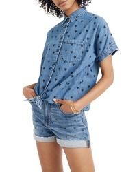 Madewell Tie Front Denim Shirt