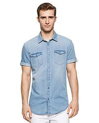 Calvin Klein Jeans Short Sleeve Denim Sportshirt