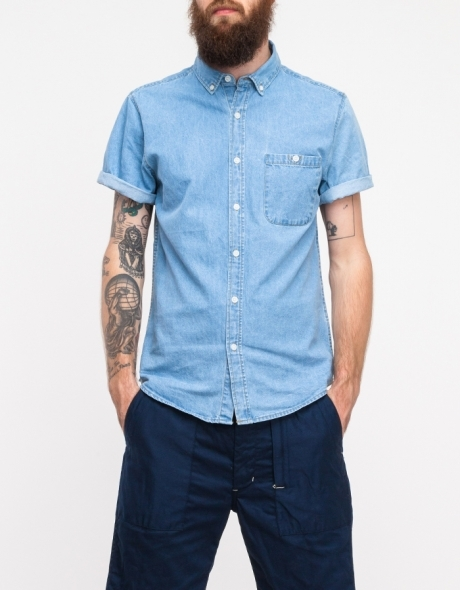 Topman Light Wash Denim Button Down | Where to buy & how to wear