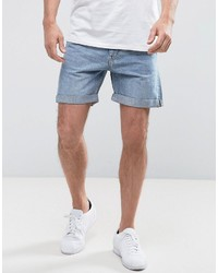 Weekday Beach Day Denim Shorts Wow Blue