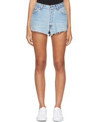 RE/DONE Blue Levis Edition Classic Denim Shorts