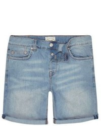 River Island Blue Only Sons Skinny Fit Denim Shorts
