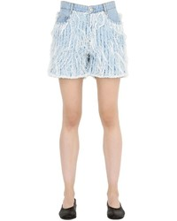 Each x other frayed cotton denim shorts medium 675828
